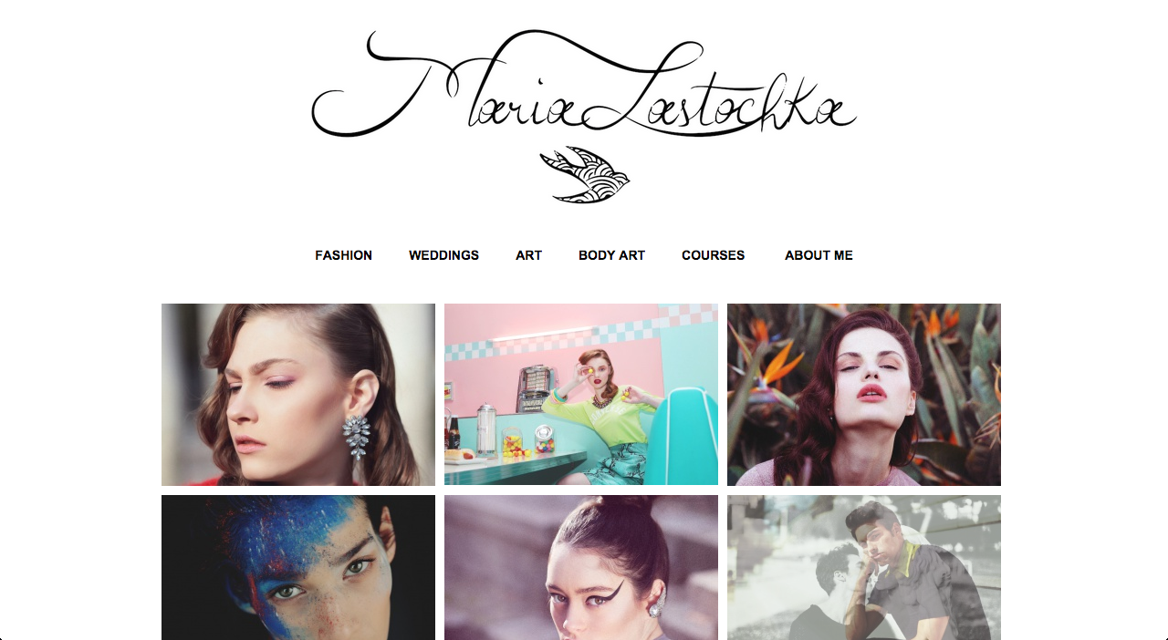 Screenshot of the Maria Lastochka's Website